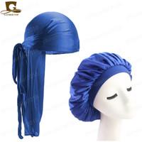 Mode Herren Durag Kopfbedeckung Durags und Bonnets Frauen Bequeme Cap Paar 2pcs Sätze