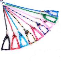 Harness Dog Leashes Colar Pet Rope Tie Collar Nylon Impresso ajustável coleira de cão Pet Filhote de gato Animais Acessórios 1,0 * 120 centímetros LXL720A