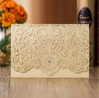 2019 Hot Selling Wedding Invitations Cards White Laser Cut P...