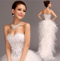 Women High Quality Fashion Elegant New White Red Strapless A...