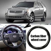 Для Cadillac SRX Автомобиль Углеродного Волокна Кожа Рулевого Колеса Спорт Гонки