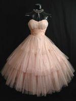 50 марочное Shell Pink Пром платья без бретелек Тюль Layered Блестки чай Длина Короткое платье Homecoming бальное платье невесты партии платья