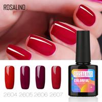 Ray Tracing Einfarbig Rose Farbe Nagellack UV Phototherapie Umweltschutz Gel Rose Rot Nagelkleber 10ml TSLM2