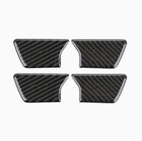 4 STÜCKE Carbon Innentür Schüssel Abdeckung Trim Fit Für Jeep Grand Cherokee 2014-2018