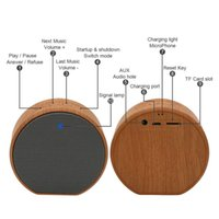 A60 Hout Graan Draagbare Bluetooth Speaker Box voor Telefono MP3-speler PC Laptop Notebook USB 3.5mm Jack Aux Output TF-kaart