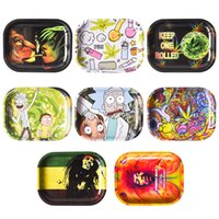 "New Cartoon Rolling Tray 7"" *5. 5"" Metal Tray Tobacc..."