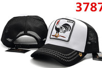 2019 New Style cock embroidery bone Curved visor Casquette m...