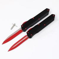 Alta qualidade mic Munroe Cyp vermelho liso lâmina deslizante D2 7075 presente de alumínio Hunting Folding bolso faca da sobrevivência do Xmas para homens cópias