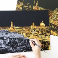 Creative Color Postcard Scraping Night Scenes Scratching Cla...