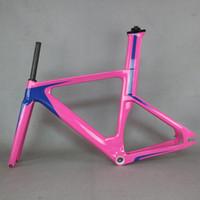 2020OEM novo OEM novo quadro de faixa de carbono quadro quadros fixos engrenagem fixa quadros de bicicleta com garfo Bose carbono quadro de bicicleta tr013
