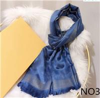 Designer Silk Scarf Fashion Man Womens Luxury 4 Seasons Shawl Scarf Brand Scarves Size about 180x70cm 6 Color with Gift Packing Optional