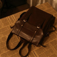 Designer- Backpack Luxury Designer Backpacks Unisex Korean Version Simple College Style Retro Postman Bag PU Leather Schoolbag Fashion 2