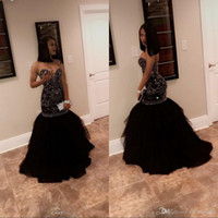 New Black Puffy Prom Dresses 2019 Sweetheart Mermaid Style B...