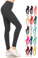 2019 Women Casual Solid Color Yoga Pants Hi Elastic Sport Jo...