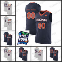 Benutzerdefinierte Virginia Cavaliers Basketball Jersey 2019 Final Four Herren 12 Hunter Anderson 24 Anthony College Virginia Cavaliers Basketball Jersey