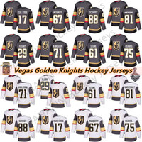 Vegas Golden Knights 29 Marc-Andre Fleury 75 Ryan Revie 71 William Karlsson 61 Mark Ston 67 Max Pacioretty Mens Kids Hockey Jerseys