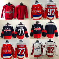 77 T.J. Oshie Jersey Washington Capitals 92 Evgeny Kuznetsov Red T.J. Oshie White Blank kein Name und Anzahl Blue Hockey Jerseys