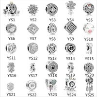 925 Sterling Silver Charms for Pandora Bracelet Mix Love Let...