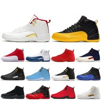 El más nuevo University Gold 12 12s Game Royal FIBA ​​zapatillas de baloncesto para hombre Gym Red Winterize bulls Flu Game the master taxi men trainer sneakers