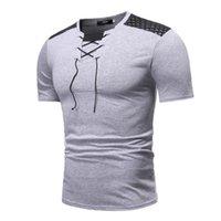 Erkekler yepyeni yaratıcı moda gündelik iş kısa kollu dikiş t gömlek erkekler uzun kollu t shirt erkek