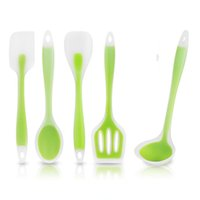 6Pcs Set Bamboo Utensil Kitchen Wooden Cooking Tool Spoon Spatula Mixing Tools