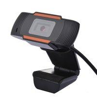 Portable HD Webcam 720P USB Camera macchina fotografica rotativa di registrazione video Web con microfono per computer portatili desktop nero