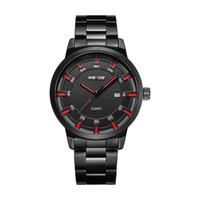 WEIDE Mann-Marke Hot Design Militär Schwarz-Edelstahl-Bügel-Mann-Digital-Quarz-Armbanduhr Uhr eines get einen kaufen