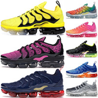 Nike Air Vapormax tn Plus tn Coussins de la marque Chaussures de course pour les femmes womenTN plus Bumblebee Fuchsia Noir Olympic du soleil Jeu Royal tn Runners Sneakers