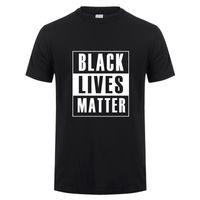 Moda Siyah Hayatlar Matter Tişörtlü Yaz Erkekler Pamuk Kısa Kollu BLM tişört Man Tshirt Soğuk -049