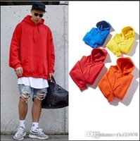 Autumn men' s hooded sweater loose solid color trend cou...