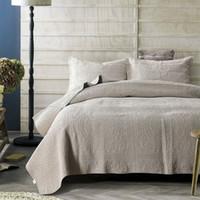 İşlemeli Yorgan Seti 3 adet Yatak Örtüsü Zımpara Pamuk Yorganlar Yatak Örtüsü Levha Yastık Kılıfı King Kraliçe Boyutu Kapitone Kapakçı
