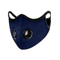 sostituibili filtro antipolvere maschere grigliati con doppie valvole antipolvere panno inquinamento maschere Activated Carbon Filtri Earloop maschera all'aperto