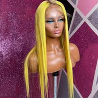 150 % 13x6 Dantel ön insan saç peruk ön koparıp Sarı Ombre renkli insan saç peruk