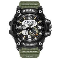Женщина Часы Спорт Уличные светодиодные цифровые часы Женщина Army Military Большой набор 1808 женщин смотреть
