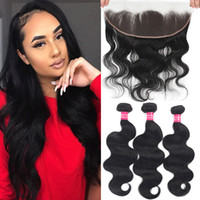9A Remy Body Wave Brazilian Hair 3 Bundles With 13x4 Ear To ...