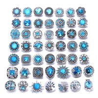 10pcs lot New 18mm Snap Button Jewelry Mixed Sky Blue 18mm R...
