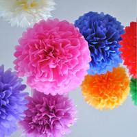 10 pouces 25cm Poms de papier Pape Paper Fleurs Ball pour le nouvel an et anniversaire Fêtes de mariage Décoration de 30 pcs Livraison gratuite