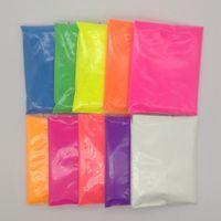 10g per colore misto di 10 colori fluorescenti pigmenti in polvere per la cosmetico vernice di sapone in polvere Neon Glitter Nail