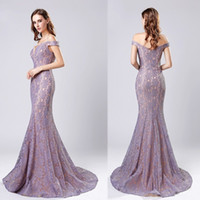 Lace Long Evening Dresses 2019 New Arrival Sexy Mermaid Off ...