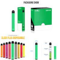 Kangvape Slick Plus Tek Kullanımlık Vape Pen E Sigaralar 4.0ml Yağ Arabaları Boş Pod 700 mAh Pil 1200 Puffs E Sigara