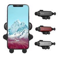 Ceci est un Air Vent Mount Smart Mobile Phone Holder Gravity voiture Linkage Handy Auto rétractable de verrouillage de détection Support en paquet détail