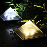 Lampe solaire créative pyramide pelouse lumières de jardin extérieur jardin décoration paysage soleil lumière voie piste de rue villa passerelle allaitement lumières