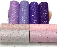 Materiali glitter paillettes Tulle rotolo 15cm 25 yarde 22m rotolo di tessuto Spool Tutu regalo Wrap Baby Shower Wedding decorazione di DIY della festa di compleanno