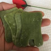 Disponibile Natural Jade massaggio dell'attrezzo di Gua Sha Trattamento viso naturale della pietra della giada di raschio di cura di sana