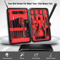 Maniküre-Set Berufsnagel-Scherer-Kit-Dienstprogramm Pedicure Schere Pinzette Messer-Ohr-Auswahl Nails Art Werkzeug-Sets mit Etui