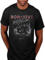 T-shirt Bounce Crush Band officiel de Bon Jovi Slippery When Wet New Jersey Hommes Femmes Mode Unisexe T-shirt Livraison Gratuite