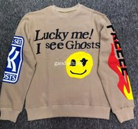 CFG KANYE WEST FREEEE Album KID SEE GHOSTS Felpe HIP HOP Uomo Donna Alta Qualità Bianco Cachi LUCKY me Letter Streetwear Felpe Top