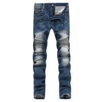 Brand New Fashion Mens Designer Jeans Mens High Quality Dist...