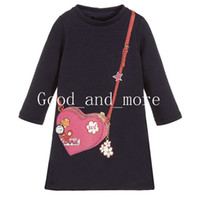 Girls Long Dress Autumn winter clothing Round Neck Slim Cart...
