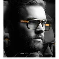 4d2cc7ca9 Lente clara Óculos De Sol Dos Homens Marca de Luxo Retro Tons Preto  Designer de Óculos